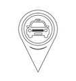 map pointer taxi icon vector image vector image