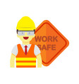 modern employee work safe sign graphic vector image