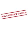 Naturist Zone Watermark Stamp vector image vector image