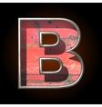 old metal letter b vector image