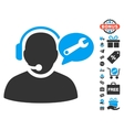 Operator Service Message Icon With Free Bonus vector image vector image