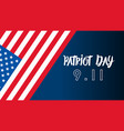 patriot day usa never forget 911 patriot day vector image vector image