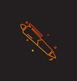 pen icon design vector image vector image