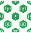 Phone message pattern vector image vector image