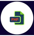 PHP computer symbol vector image vector image