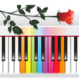 piano with rose vector image vector image