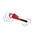 pipe wrench vector image vector image