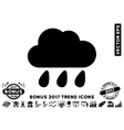 Rain Cloud Flat Icon With 2017 Bonus Trend vector image vector image