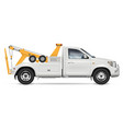 realistic tow truck vector image vector image
