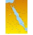 Red Sea region countries vector image vector image
