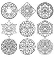 sacred geometry symbols - set 01 vector image