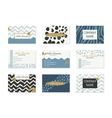 set business cards with hand drawn elements vector image