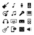 set flat icons - audio music and sound related vector image vector image