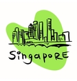 Singapore city vector image