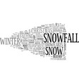 snowfall word cloud concept vector image vector image