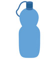 sport or touristic water bottle and plastic vector image
