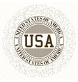 Stock logo USA vector image vector image