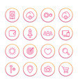 thin line web icons set basic interface elements vector image