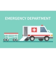 transport ambulance car icon vector image vector image