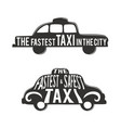 typographic poster with taxi advertise very vector image
