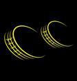 wheel tire track yellow vector image vector image