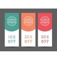 Yoga Studio Discount Coupon Template vector image vector image