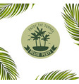 banner with palm leaves vector image