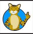 tiger sticker icon avatar vector image