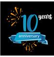 10 anniversary pictogram icon years birthday logo vector image