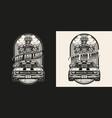 american custom car vintage monochrome badge vector image