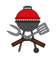barbecue grill spatula and fork vector image vector image