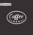 black and white style icon of coffee logo vector image vector image