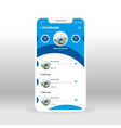 blue chat book ui ux gui screen for mobile apps vector image vector image