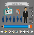 Business infographic with icons persons pencil and vector image vector image