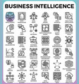 business intelligencebi concept icons vector image