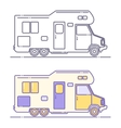 camping cars vector image