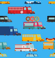 car cartoon seamless pattern fire engine and vector image vector image