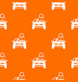 car with padlock pattern seamless vector image vector image