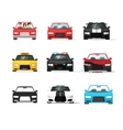 Cars icons set auto collection front view vector image vector image