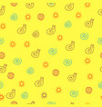 children drawing of snail seamless pattern doodle vector image