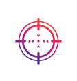 crosshair icon vector image vector image