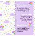 cute banner and poster design with stars vector image vector image