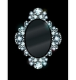 Diamond Mirror Frame vector image