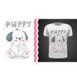 dog puppy - idea for print t-shirt vector image