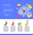 flat smoothie landing page template vector image