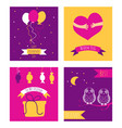 friendship day cards set vector image