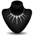 golden necklace with diamonds vector image vector image