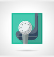 golf club flat color icon vector image vector image