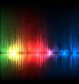 green-red-blue wave abstract equalizer background vector image vector image