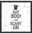 Halloween typography label template vector image vector image